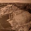 Freigelegte Fundamente des Turms an der Klostermauer